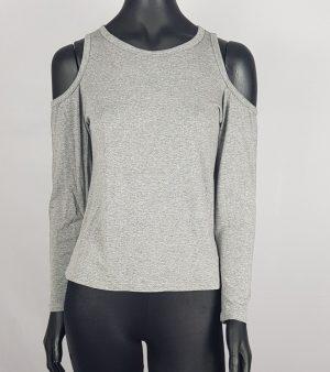 blusa ombro aberto feita em viscolycra.